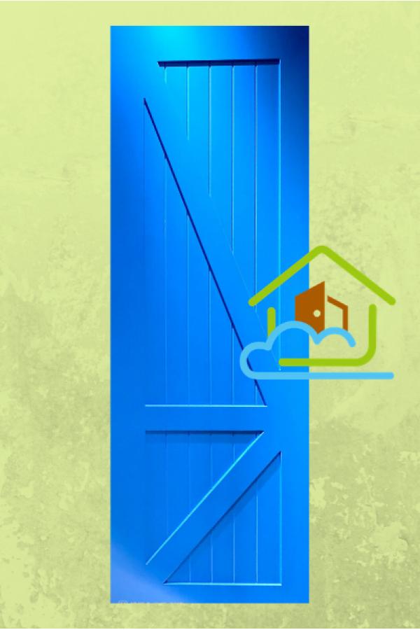 典雅系列 - 湖水藍色糓倉門 - 房門 - 趟門