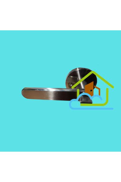 圓形牛角鎖 - 筆直形手柄 - 黑色