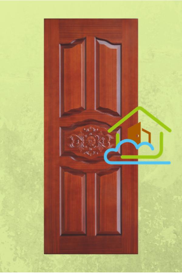 典雅系列 - 沙比利木皮釘花件- 大門